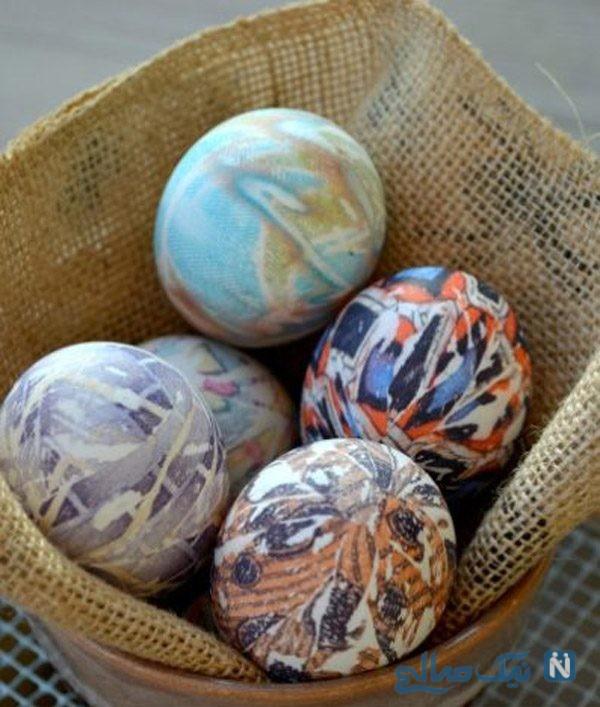 روش جالب تزیین تخم مرغ هفت سین با پارچه