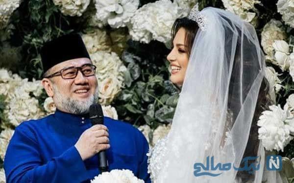 پادشاه سابق مالزی همسرش ملکه زیبایی روسیه را طلاق داد