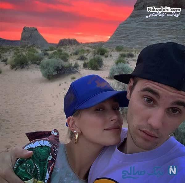 عکس جاستین بیبر و همسر جدیدش
