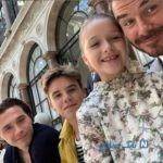 فرزندان دیوید بکهام در فشن شو مادرشان ویکتوریا در لندن