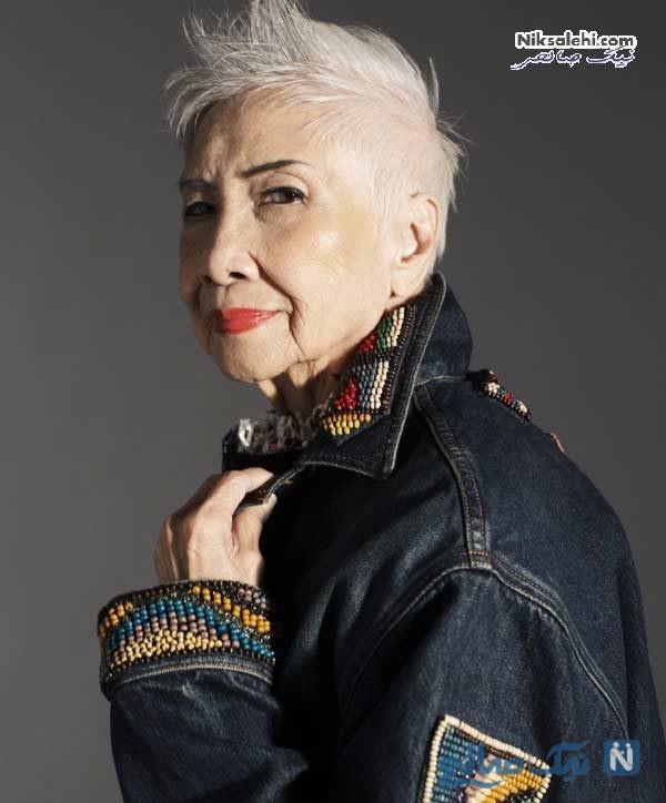 پیرترین مدل زن