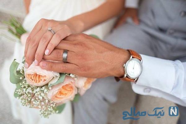 جشن عروسی متفاوت عروس و داماد قرنطینه شده و مشکوک به کرونا