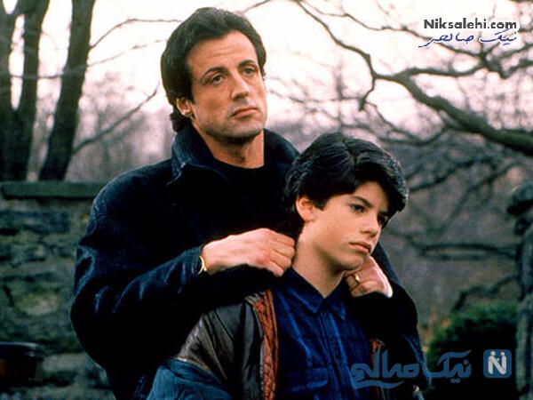 سیلوستر استالونه و پسرش
