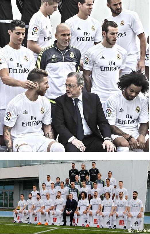 عکس های رسمی تیم رئال مادرید با حضور زیدان