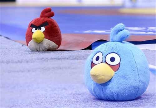 پرندگان خشمگین در رقابتهای کشتی + عکس