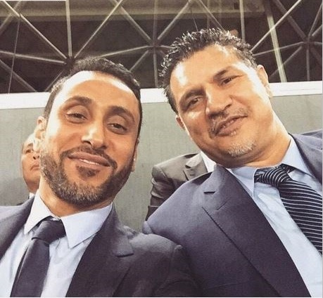سلفی علی دایی درمحل برگزاری فینال جام ملت های آسیا + عکس