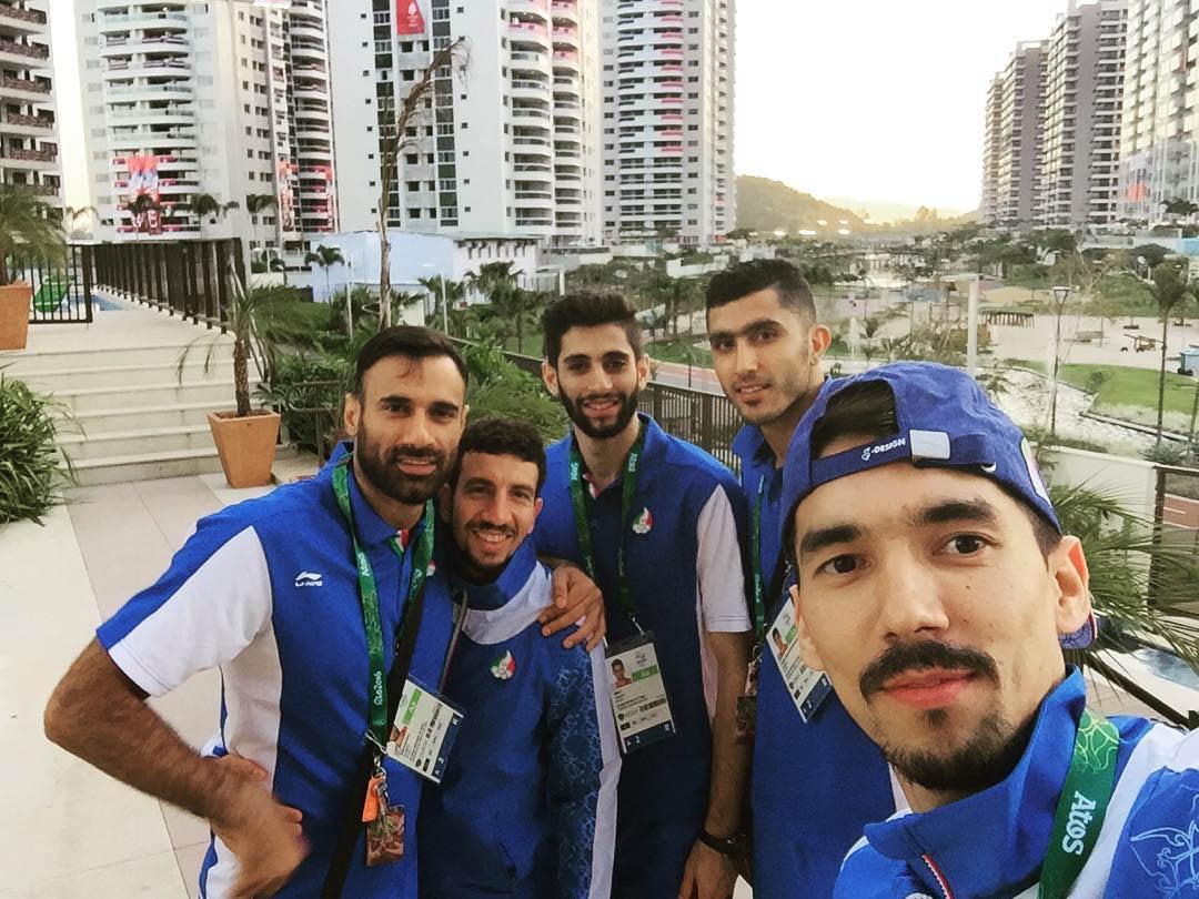 سلفی ستاره های والیبال ایران در دهکده المپیک + عکس