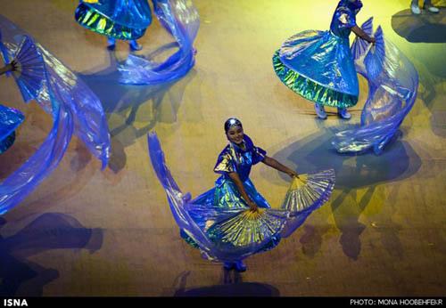 تصاویر بسیار زیبا از مراسم افتتاحیه بازیهای پاراآسیایی اینچئون