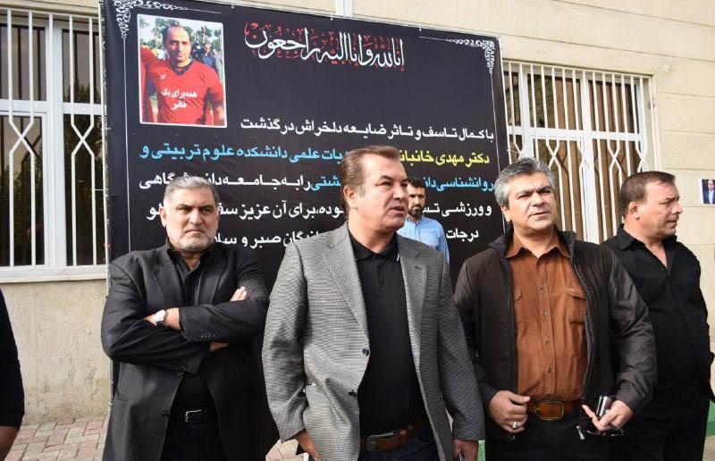 بازیکنان پرسپولیس و استقلال در مراسم تشییع روانشناس سابق پرسپولیس + تصاویر