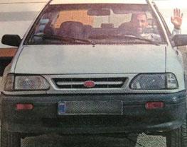 یاغی سابق پرسپولیس پراید سوار شد! + عکس