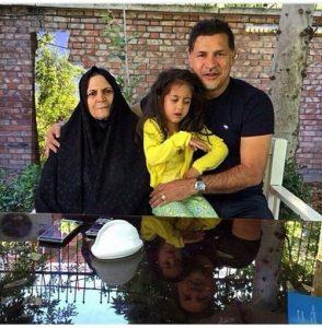 علی دایی عید فطر در کنار مادرش و نورا خانم + عکس