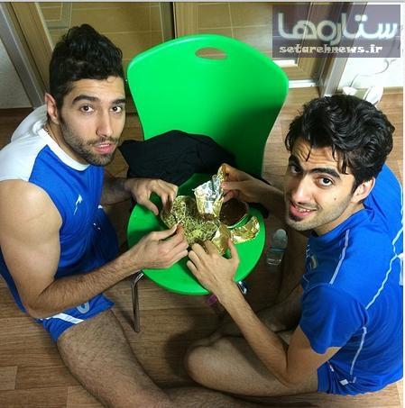 شام محمد موسوی و امیر غفور در اینچئون + عکس