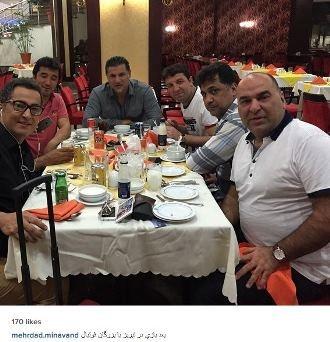 شام دورهمی علی دایی با خداداد عزیزی و مهرداد میناوند + عکس