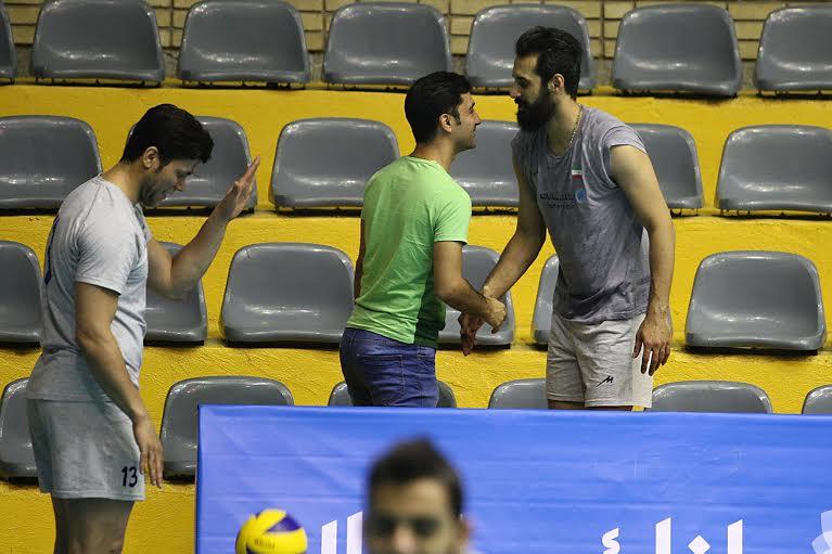 آشتی ظریف با تیم ملی والیبال + تصاویر