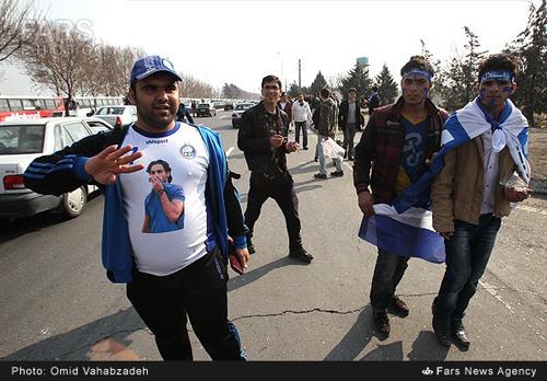 شاهکار جالب هواداران فرهاد مجیدی در آزادی + عکس