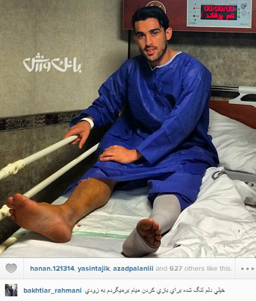 دلتنگی سرباز فوتبال ایران + عکس