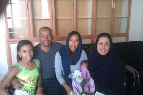 خانواده چهار نفره مهاجم برزیلی سپاهان در اصفهان + عکس