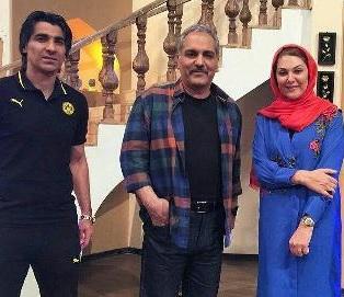 آقای گل جهان و بازیگر زن سینما در برنامه مهران مدیری + عکس