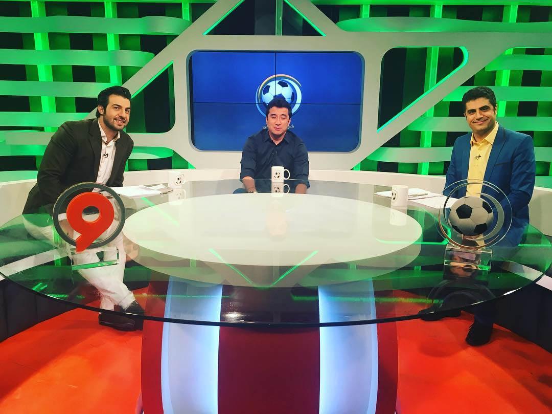 دو ستاره محبوب فوتبال ایران میهمان شبکه ورزش + تصاویر