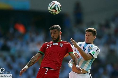 لحظه های زیبا و دیدنی دیدار تیمهای فوتبال ایران و آرژانتین + تصاویر