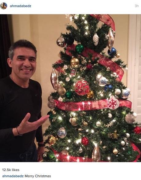 درخت کریسمس احمدرضا عابدزاده + عکس