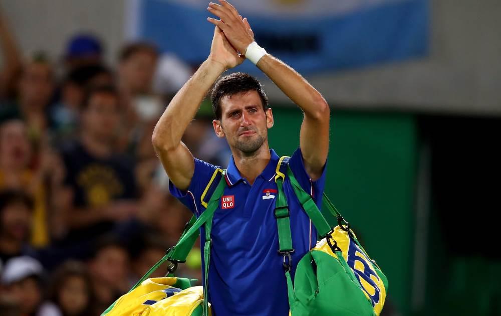 اشک های مرد شماره یک تنیس جهان پس از حذف از المپیک + عکس