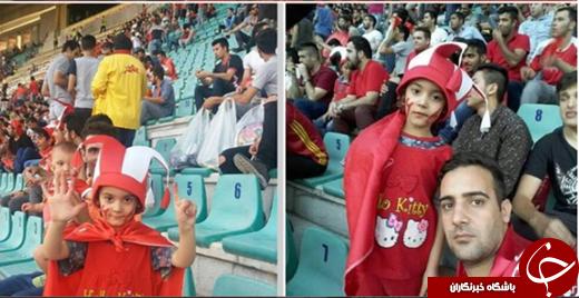 تنها خانمی که در بازی پرسپولیس در ورزشگاه تختی بود + تصاویر