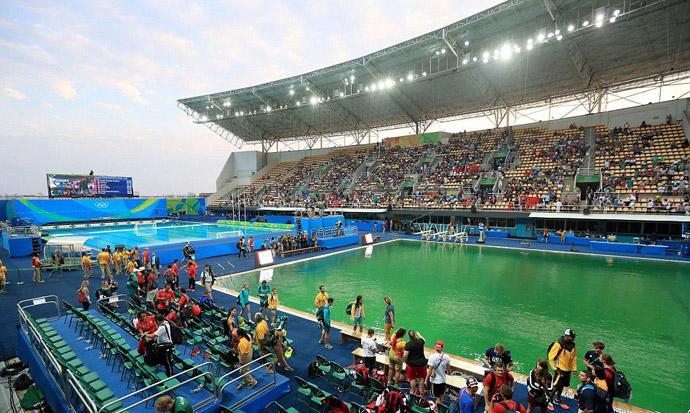 اتفاق عجیب در استخر بانوان در المپیک ریو + تصاویر