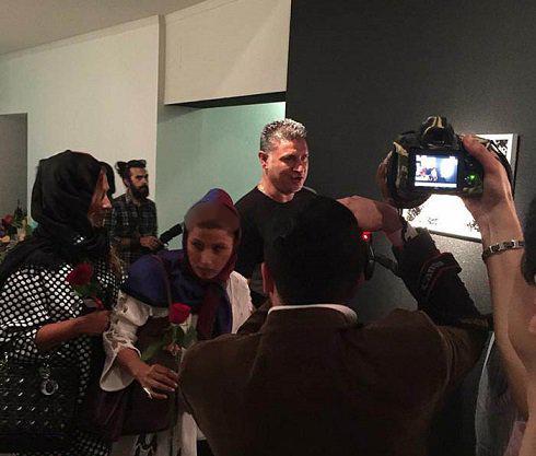 علی دایی و همسرش در نمایشگاه تهمینه میلانی + عکس