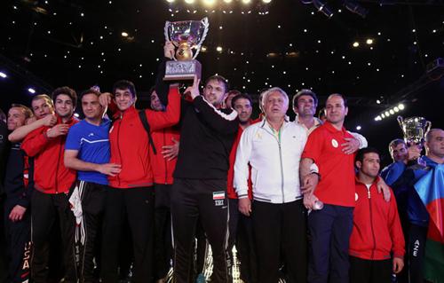 قهرمانی باشکوه تیم ملی کشتی آزاد در مسابقات جام جهانی + تصاویر