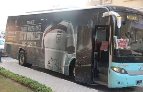 تصویری جالب از اتوبوس تیم ملی امید + عکس