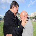 چهره متفاوت دایی و منصوریان در یک قاب! + عکس