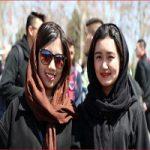 تیپ دختران هوادار چینی که به ورزشگاه آزادی رفته بودند +تصاویر