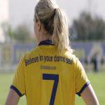 پیام بازیکن تیم ملی فوتبال سوئد برای دختران ایرانی +عکس
