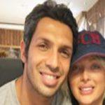 سپهر حیدری و همسرش در یک رستوران +عکس