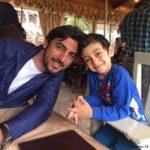 مهدی رحمتی و فرزندانش با بازیگر طنز ایرانی در تمرین استقلال +تصاویر