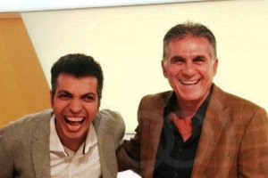 اقدام خنده دار کارلوس کی روش در پخش زنده برنامه نود