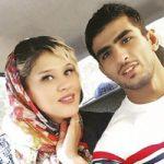 مهسا جاور قایقران 23 ساله کشورمان به همراه همسرش