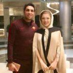 تیپ پاییزی سپهر حیدری و همسرش در شمال