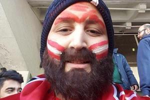 چهره واقعی بانوی پرسپولیسی بدون ریش! +تصاویر