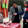 مراسم بزرگذاشت سرطلایی فوتبال ایران در تمرین پرسپولیس