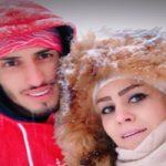 برف بازی علی علیپور با همسر و فرزندش در توچال!