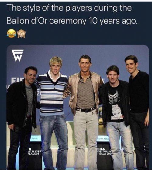 مراسم توپ طلای 10 سال پیش