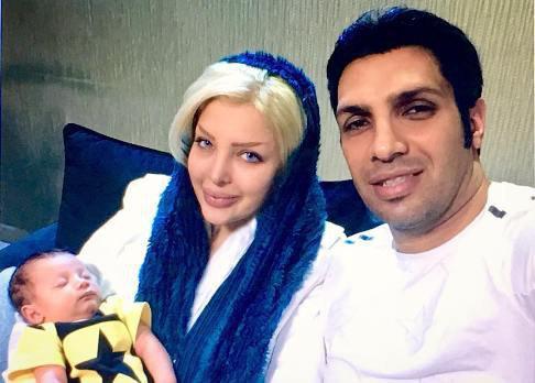 سپهر حیدری و همسر و پسرش دیاکو
