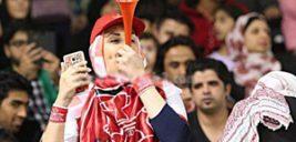 حضور جنجالی پنج دختر پرسپولیسی در ورزشگاه آزادی