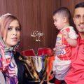 علی علیپور مهاجم پرسپولیس در کنار همسر و فرزندش در تعطیلات +عکس