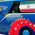 اسکورت عجیب اتوبوس تیم ملی در خیابانهای مسکو +عکس