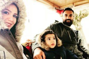 عکس های دیدنی عادل غلامی والیبالیست کشورمان در کنار همسر و پسرش