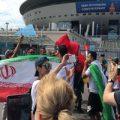 کری خوانی جالب هواداران ایرانی برای رونالدو در دیدار ایران و مراکش +عکس