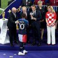 تصاویر زیبای جشن قهرمانی فرانسه در جام جهانی ۲۰۱۸ زیر باران